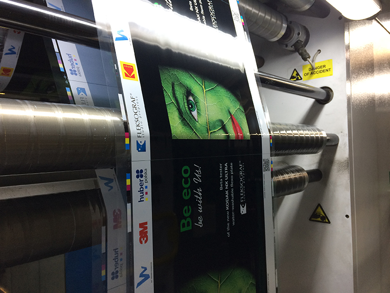The first test in Poland - photopolymer plates washed out